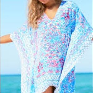NWOT Lilly Pulitzer Caftan Cotton Beach Coverup!